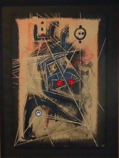 The Wizard - Original Mixed Media by U. Mastroianni - 1965