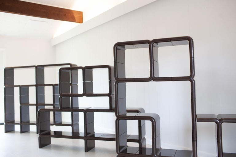 'UMBO' Modular Shelving System by Kay Leroy Ruggles for Directional, 1972 For Sale 3