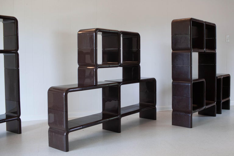 'UMBO' Modular Shelving System by Kay Leroy Ruggles for Directional, 1972 For Sale 4