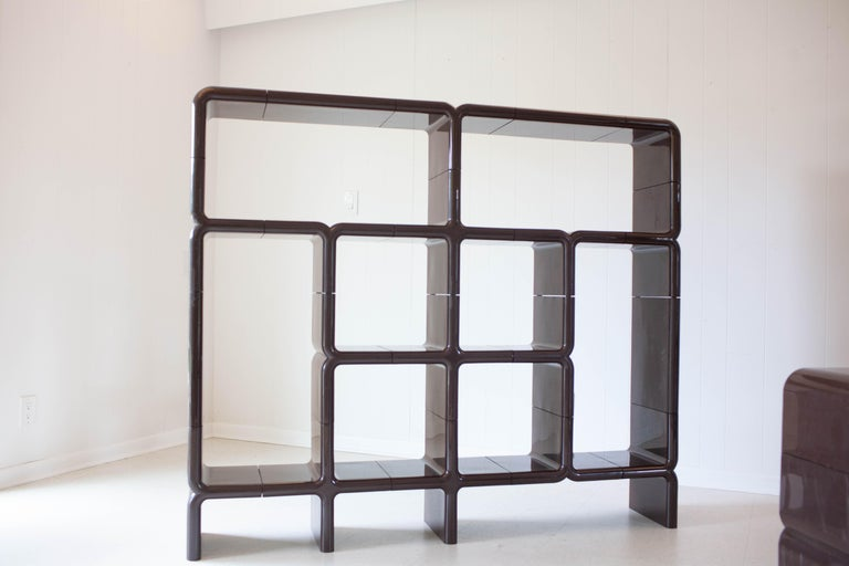 'UMBO' Modular Shelving System by Kay Leroy Ruggles for Directional, 1972 For Sale 5