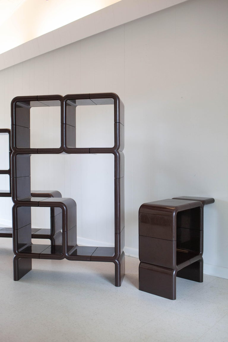 'UMBO' Modular Shelving System by Kay Leroy Ruggles for Directional, 1972 For Sale 6