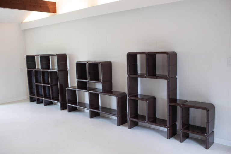 Modern 'UMBO' Modular Shelving System by Kay Leroy Ruggles for Directional, 1972 For Sale