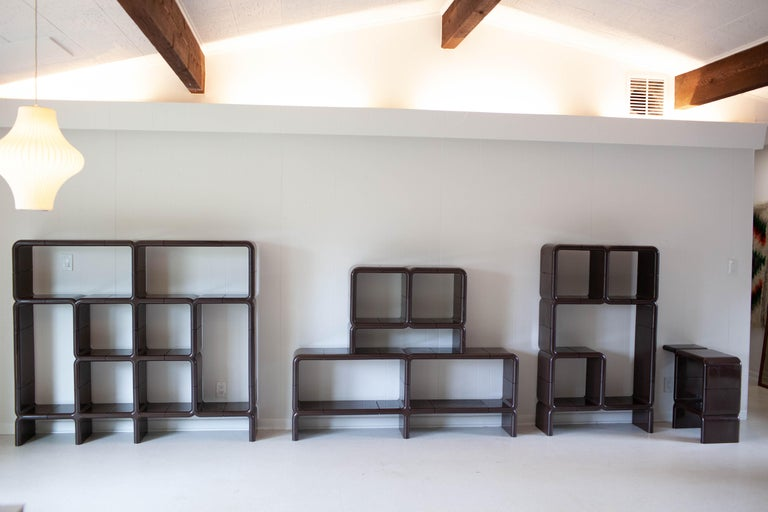 'UMBO' Modular Shelving System by Kay Leroy Ruggles for Directional, 1972 In Good Condition For Sale In Los Angeles, CA