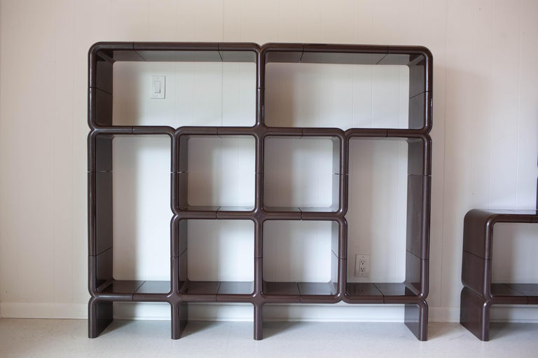 Late 20th Century 'UMBO' Modular Shelving System by Kay Leroy Ruggles for Directional, 1972 For Sale