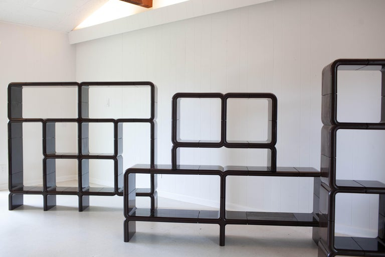 'UMBO' Modular Shelving System by Kay Leroy Ruggles for Directional, 1972 For Sale 1