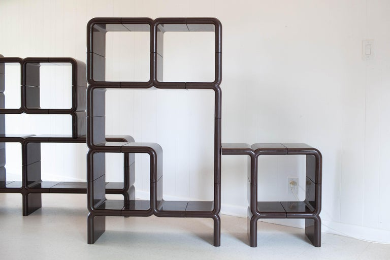 'UMBO' Modular Shelving System by Kay Leroy Ruggles for Directional, 1972 For Sale 2