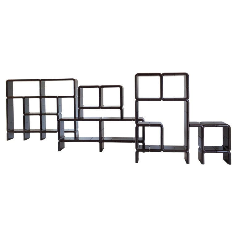 'UMBO' Modular Shelving System by Kay Leroy Ruggles for Directional, 1972 For Sale