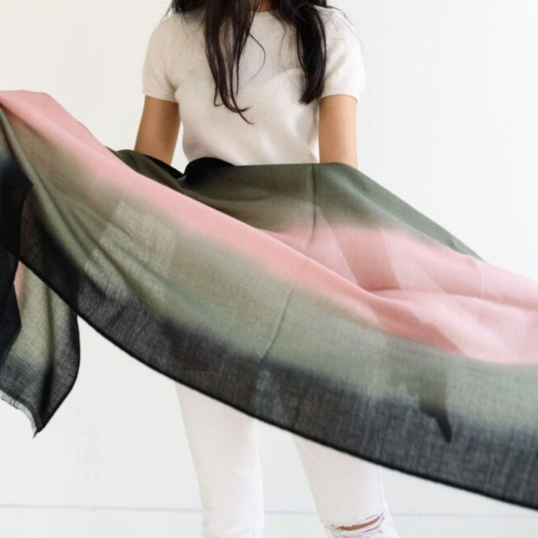 Umbra Kiwi Cashmere Merino Scarf  For Sale 4