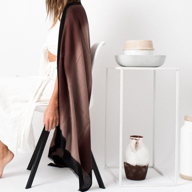 Fabric UMBRA Mink Cashmere Merino Light Weight Throw  For Sale