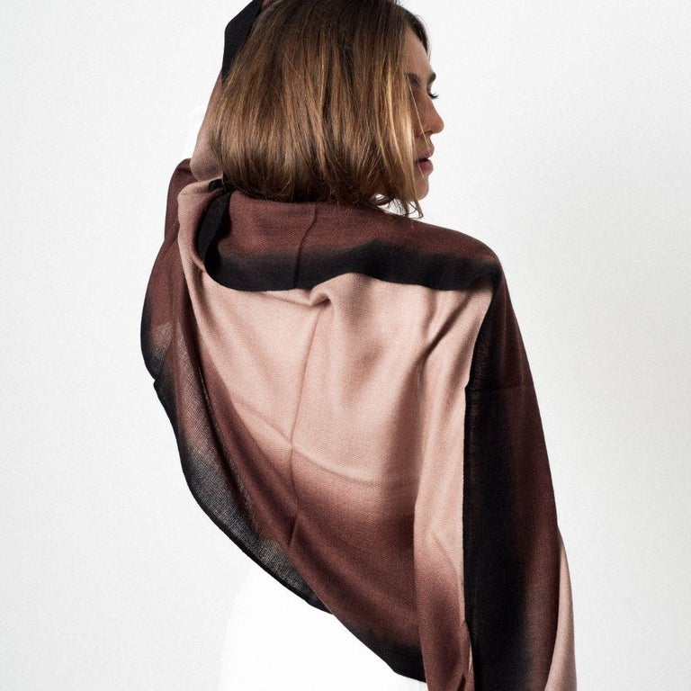Hand-Woven UMBRA MINK Cashmere Scarf / Wrap  For Sale