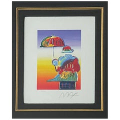 """Umbrella Man"" Serigraph by Peter Max"