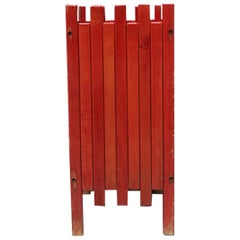 Umbrella Stand from 1960s, by Ettore Sottsass for Poltronova in Red Wood