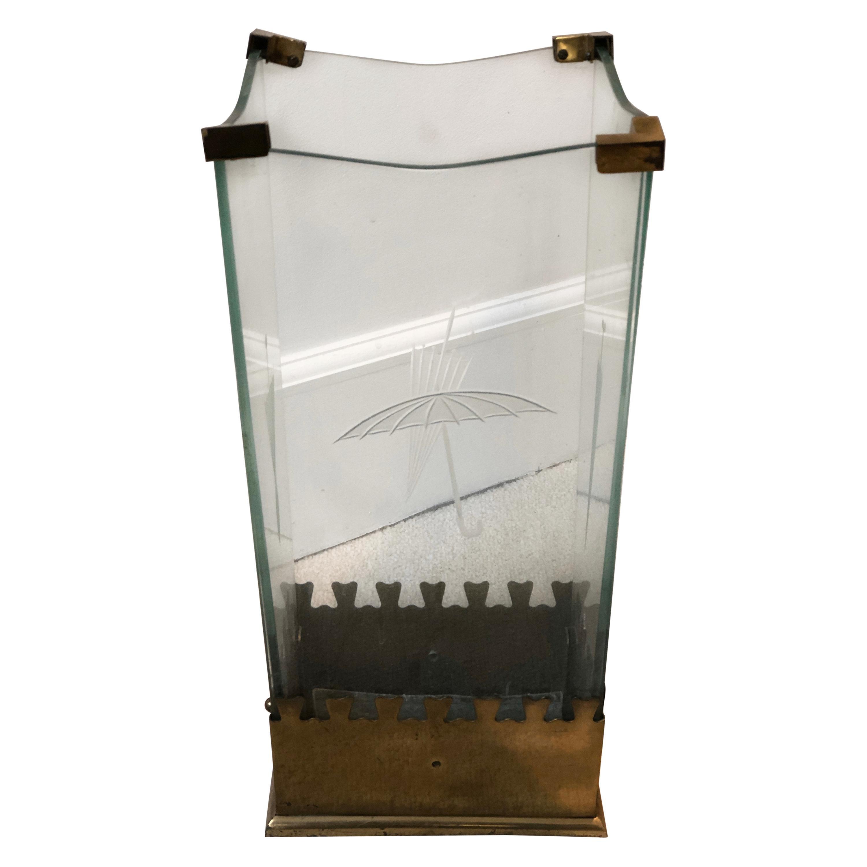 Umbrella Stand Holder by Fontana Arte, Italy, circa 1940