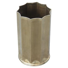 Umbrella Stand in the Shape Star Hand-Hammered Brass Italian Design, 1970