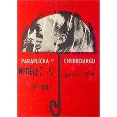 Umbrellas of Cherbourg, Czech Film Poster, Miroslav Vystrcil, 1966