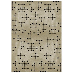 Umlaza Sand Area Rug in Hand-Tufted Wool and Botanical Silk by Rug'Society