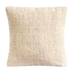 Umlil White Cushion Cover, Handspun and Handwoven