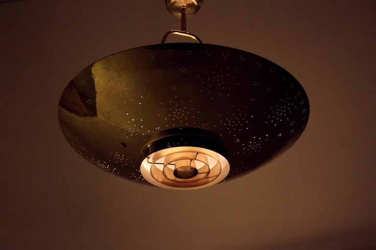 'Un' Ceiling Lamp in Brass by Paavo Tynell, Finland, 1950s For Sale 5