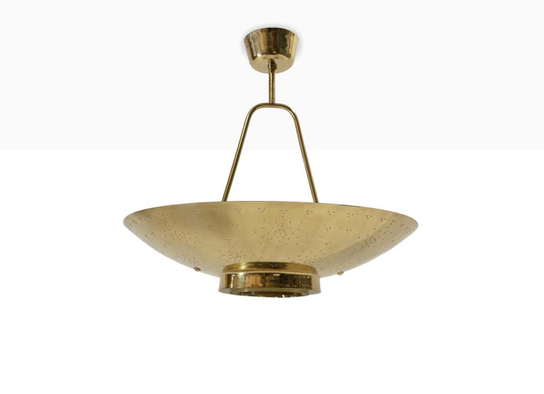 'Un' Ceiling Lamp in Brass by Paavo Tynell, Finland, 1950s For Sale 1