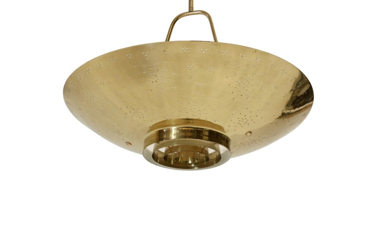 'Un' Ceiling Lamp in Brass by Paavo Tynell, Finland, 1950s For Sale 2