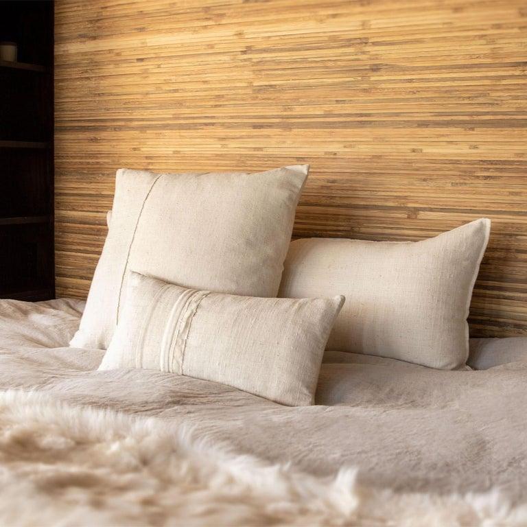 Un-Dyed, Rare, Handspun Cotton Kimono Pillow, from Hyogo, Japan, in Stock In New Condition For Sale In Sebastopol, CA