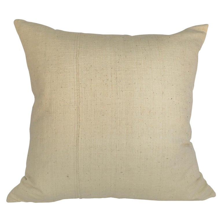 Un-Dyed, Rare, Handspun Cotton Kimono Pillow, from Hyogo, Japan, in Stock For Sale