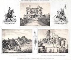 Old Ruins In Rome - Lithograph by Anonymous 19th Century Italian Artist