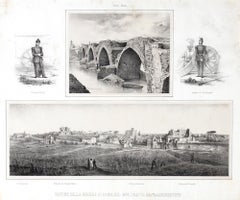 Ruins Of War In Rome - Lithograph by Anonymous 19th Century Italian Artist
