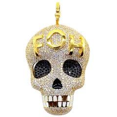 Uncensored Coomi Skull Pendant Set in 20 Karat Gold