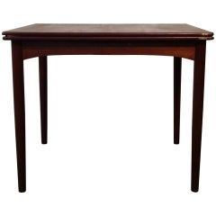 Uncommon Danish Modern Flip Top Dining / Game Table by Børge Mogensen for Soborg