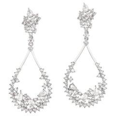 18 Karat White Diamond Gold Earrings