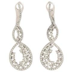 Diamond 18 Karat White Gold Earrings