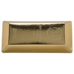 Undercover Gold Leather Gold Bar Clutch