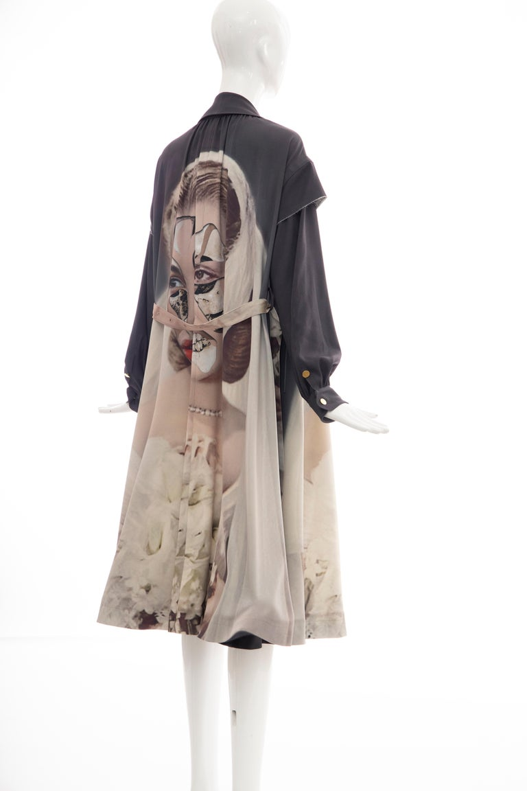 Undercover Jun Takahashi Collage Artist Matthieu Bourel Print Coat, Fall 2016 For Sale 7