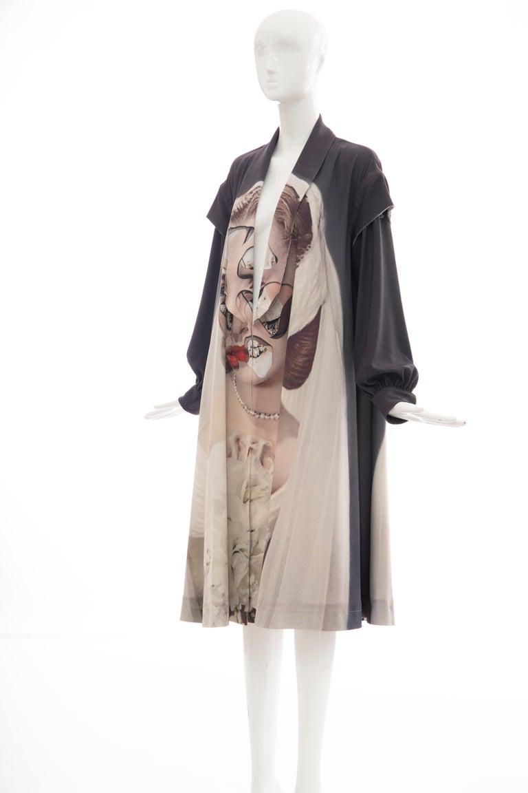 Undercover Jun Takahashi Collage Artist Matthieu Bourel Print Coat, Fall 2016 For Sale 12