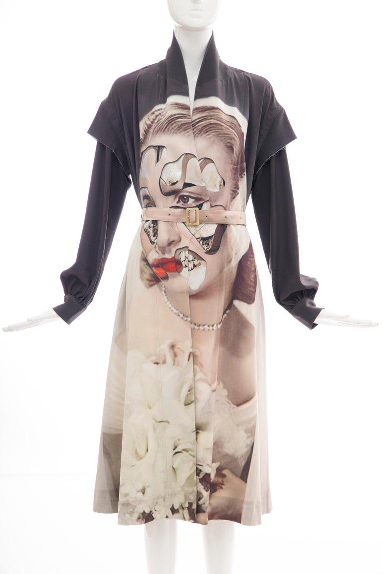 Undercover Jun Takahashi Collage Artist Matthieu Bourel Print Coat, Fall 2016 For Sale 14