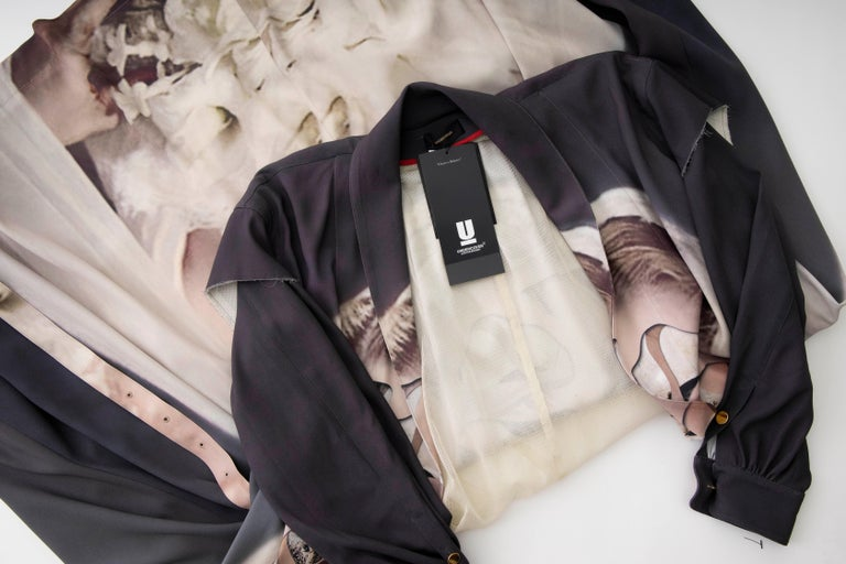 Undercover Jun Takahashi Collage Artist Matthieu Bourel Print Coat, Fall 2016 For Sale 15
