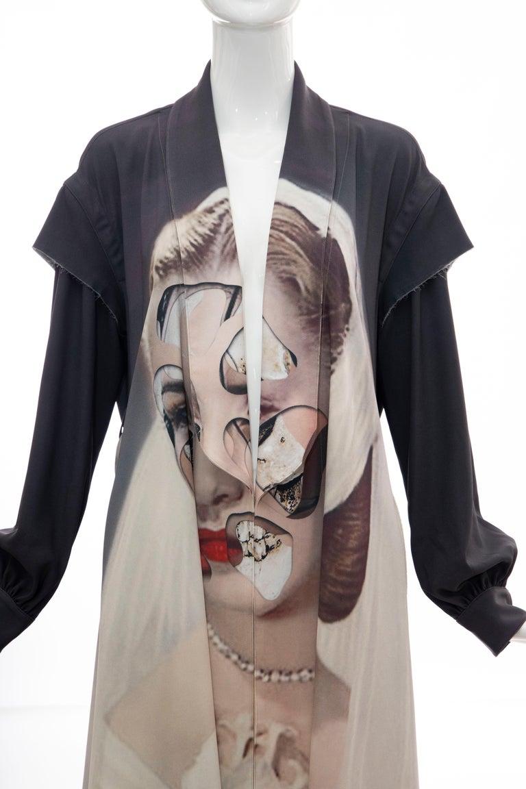 Women's  Undercover Jun Takahashi Collage Artist Matthieu Bourel Print Coat, Fall 2016 For Sale