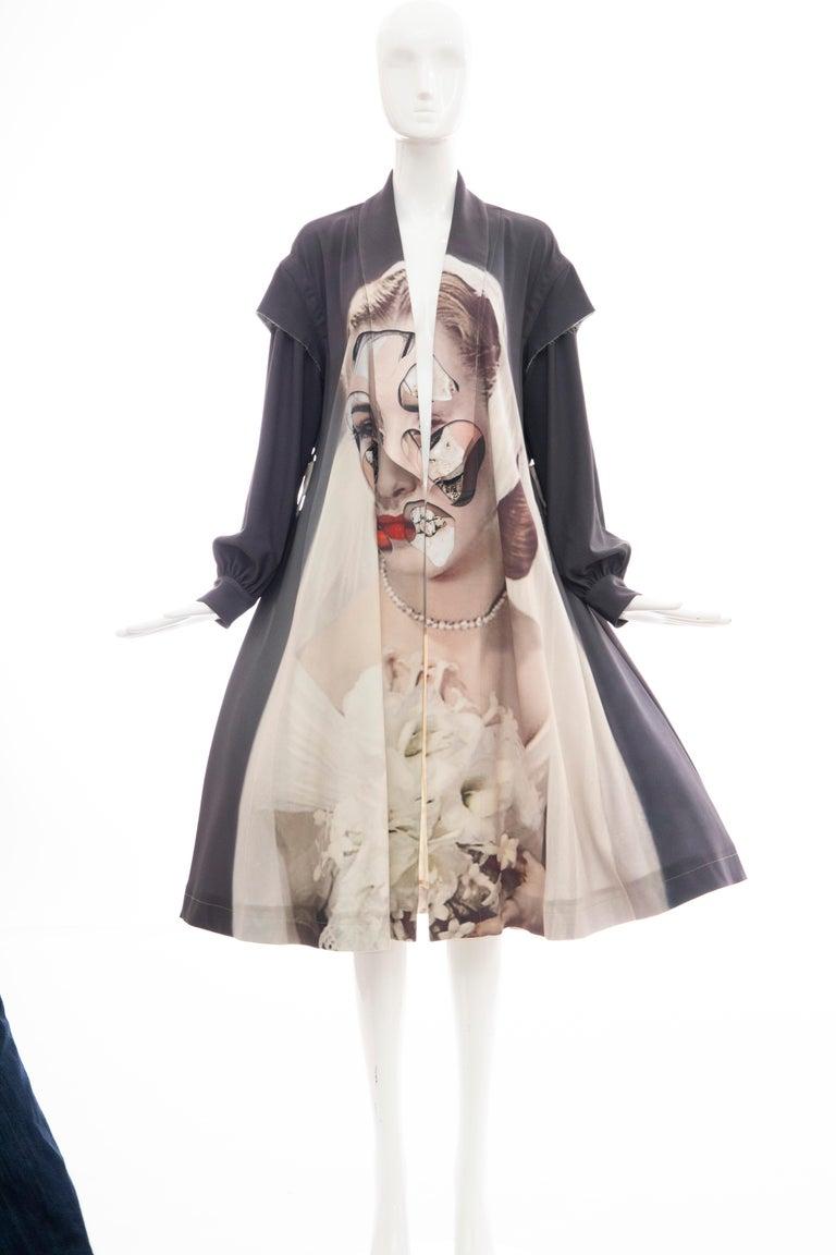 Undercover Jun Takahashi Collage Artist Matthieu Bourel Print Coat, Fall 2016 For Sale 1