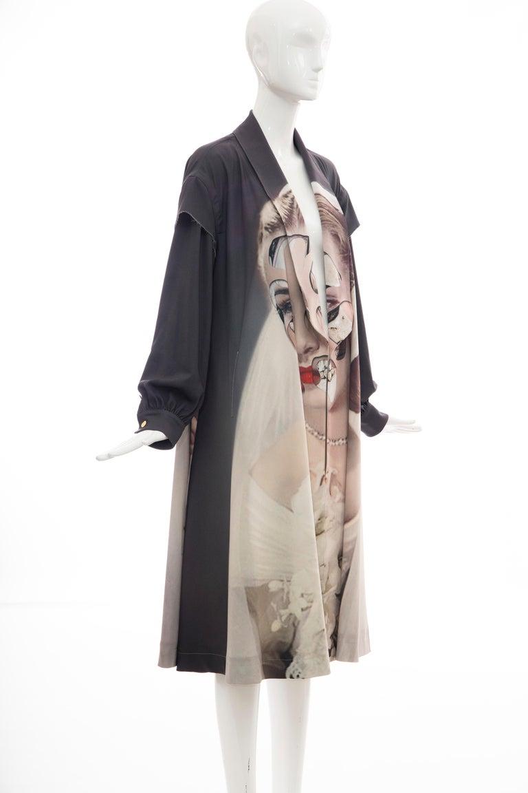 Undercover Jun Takahashi Collage Artist Matthieu Bourel Print Coat, Fall 2016 For Sale 2