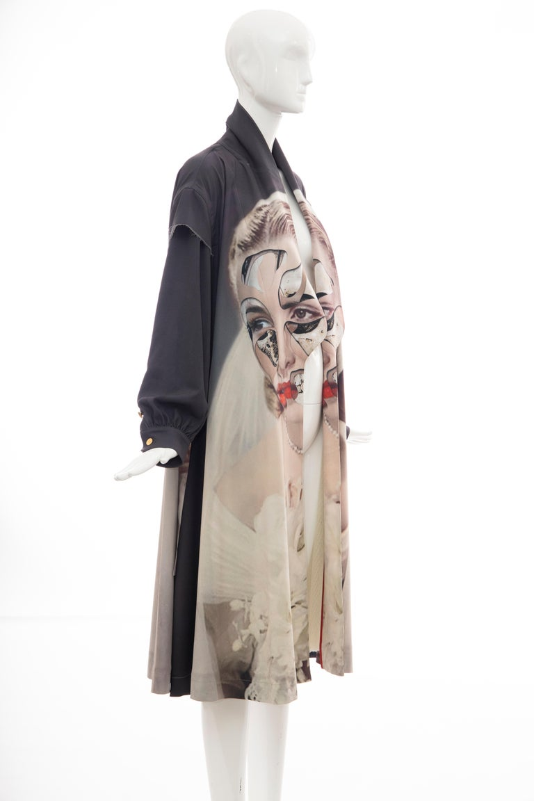 Undercover Jun Takahashi Collage Artist Matthieu Bourel Print Coat, Fall 2016 For Sale 3