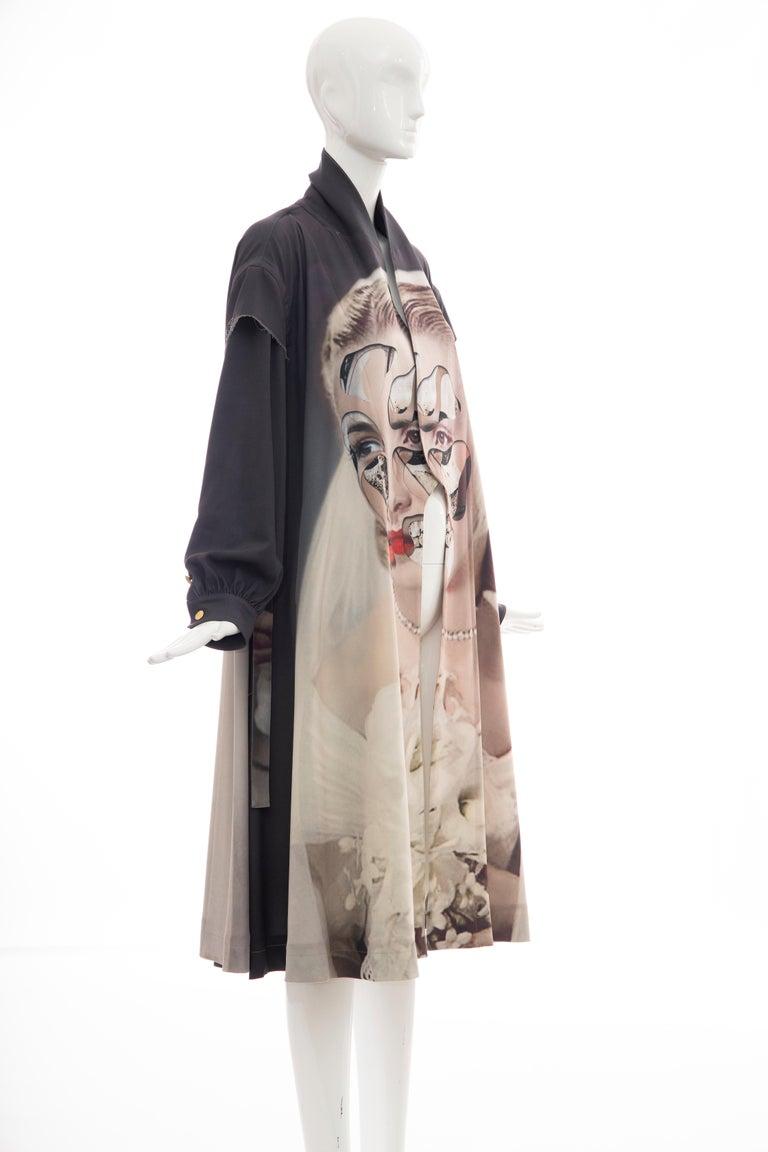 Undercover Jun Takahashi Collage Artist Matthieu Bourel Print Coat, Fall 2016 For Sale 4