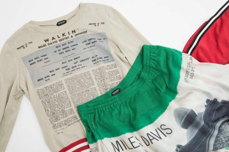 Jun Takahashi Undercover Silk Cotton Miles Davis Print Skirt Suit, Spring 2017 For Sale 7