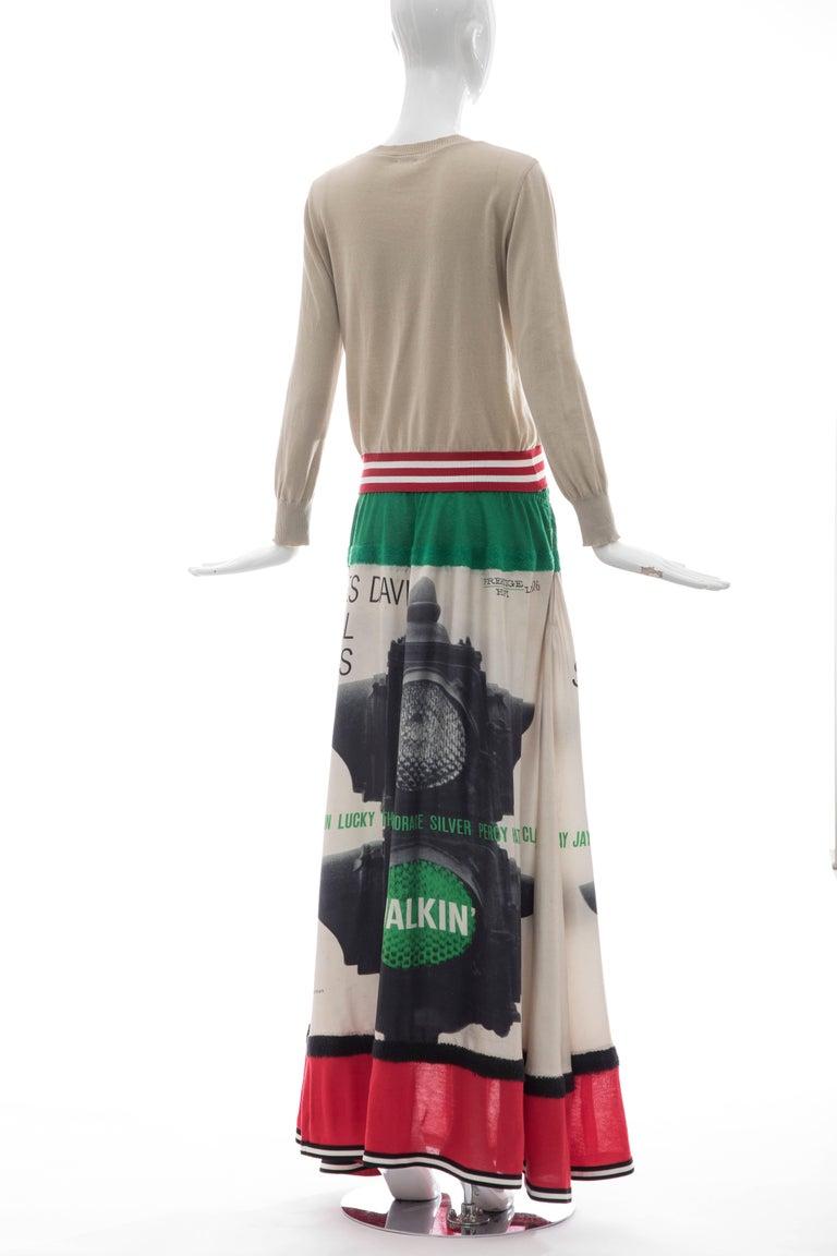 Jun Takahashi Undercover Silk Cotton Miles Davis Print Skirt Suit, Spring 2017 For Sale 2
