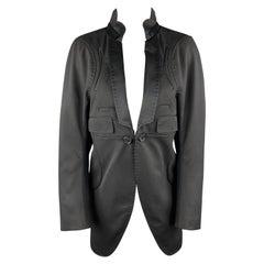 UNDERCOVER Size M Black Wool Satin Shawl Collar Tuxedo Coat