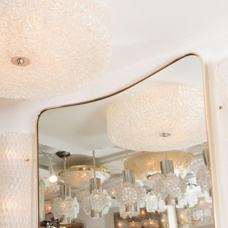 Mid-Century Modern Undulating Rectangular Mirror For Sale