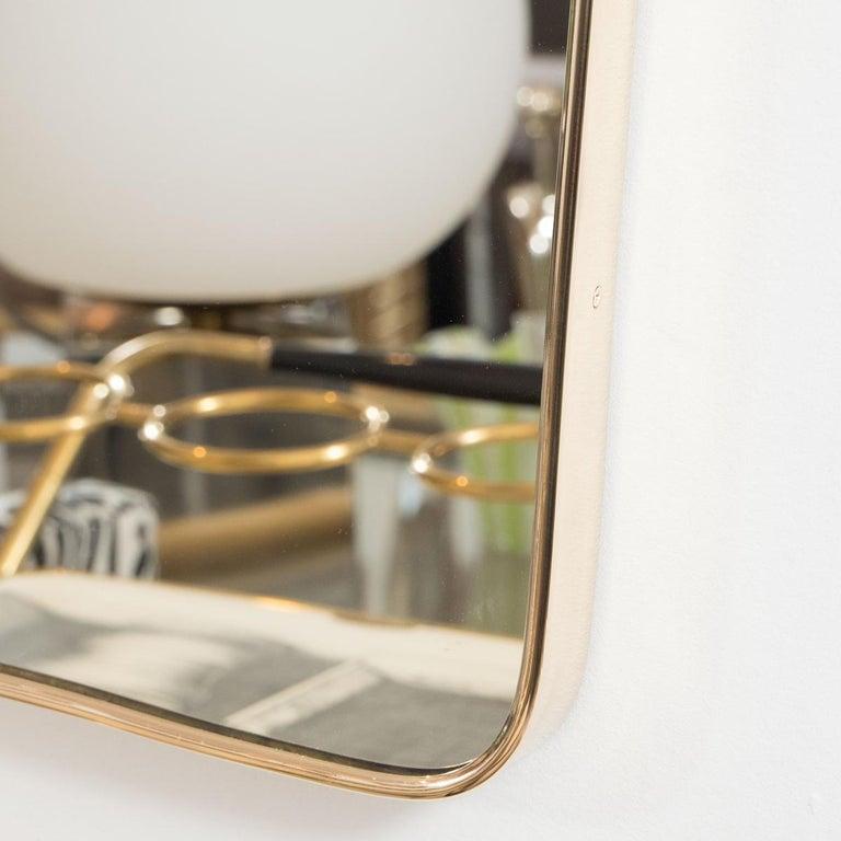Italian Undulating Rectangular Mirror For Sale