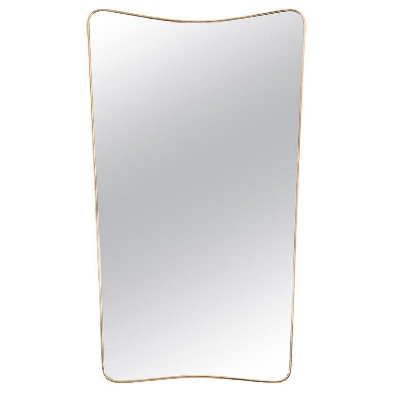 Undulating Rectangular Mirror For Sale