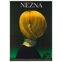 Une Femme Douce Original Czech Film Movie Poster, Poláčková-Vyleťalová, 1970