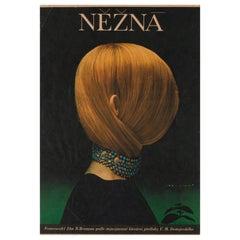 Une Femme Douce Original Czech Film Poster, Olga Poláčková-Vyleťalová, 1970